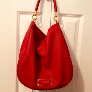Marc Jacobs Red Leather Hobo Bag
